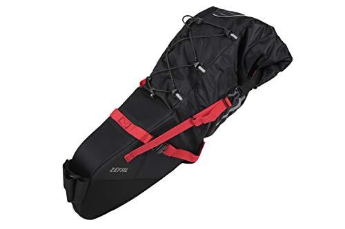ZEFAL Z Adventure Sacoche de Selle Bikepacking 17L-Universelle & Etanche-Transportez Un Grand Volume sans Installer de Porte-Bagages arrière Mixte Adulte, Noir, R17