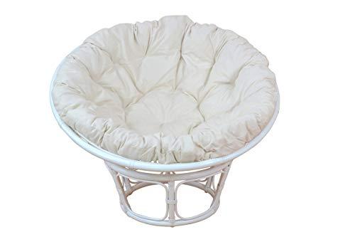 moebel direkt online Papasansessel, Durchmesser 80 cm Sessel mit Kissen