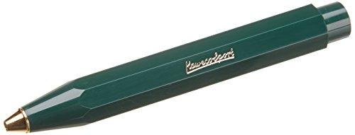 Kaweco Classic Sport Green I Business Kuli aus hochwertigem Kunststoff I Edel Kugelschreiber I 12g leichter Taschen-Kugelschreiber mit Herzkurvenmechanik I Druckkugelschreiber 10,5cm Grün