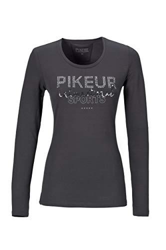 Pikeur Damen Langarm T-Shirt PK_AYLA, Langarmshirt, Shirt Größe 36, Farbe Asphalt