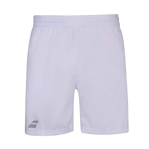Babolat Men's Play Tennis Shorts, White/White (US Size Large)