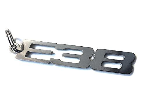 E38 emblème porte-clés en acier inoxydable