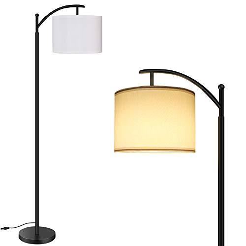 Lámpara de Pie RGB LED Regulable, BRTLX 15W RGB Luz de Pie, Luz de Piso de Lectura con Control Táctil, Bombilla LED E27 Incluida, para Salon, Dormitorio, Oficina, Estudio y Leer