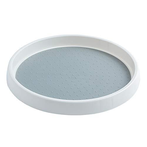 RETYLY RotacióN 360 Tanque de Condimento Antideslizante Estante de Especias Bandeja Giratoria Armario Giratorio-Gris 25Cm