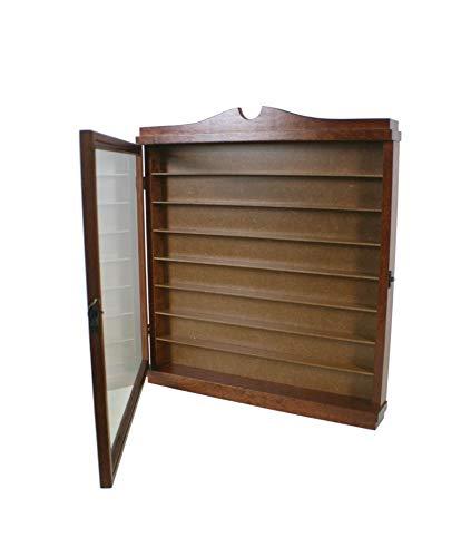 CAL FUSTER - Vitrina porta dedales madera de cedro color avellana. Medidas: 51x46x6 cm.