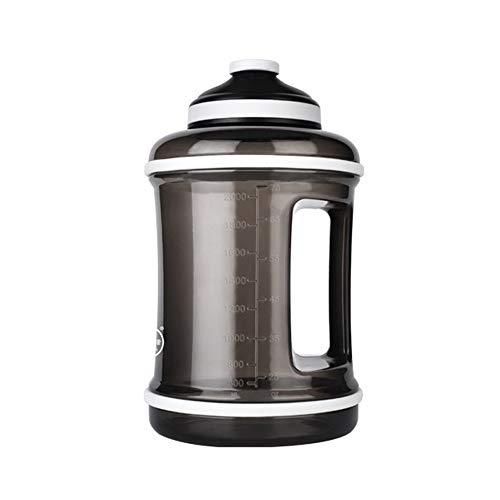 Bouteille Potable de Gym Fitness de 2,5 litres sans BPA Anti Fuite, respectueux de l'environnement, réutilisable tritan Plastique Bouteilles de Gym pour Camping, Cyclisme Bouteille Potable de Sports