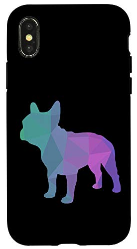iPhone X/XS French Bulldog Poly Art Design Frenchie Lover Gift Case