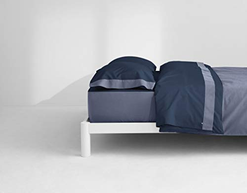 Casper Sleep Soft and Durable Supima Cotton Sheet Set, Queen, Navy/Azure