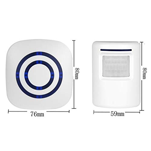 Alivier Timbre inalámbrico Sensor de Movimiento Inducción Impermeable Alarma Timbre Bienvenido Tienda Banco Timbre