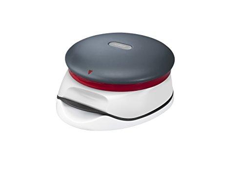 Zyliss E960002 Presse à Burgers, 2 épaisseurs, Blanc/Rouge/Gris