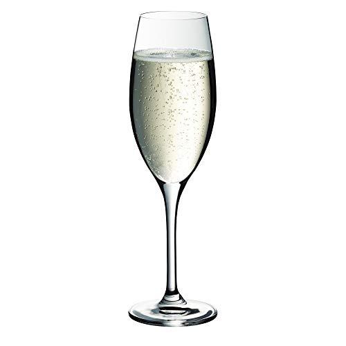 WMF Easy Plus Champagner-/ Sektglas, 250ml, Kristallglas, spülmaschinenfest, transparent, Geschenk