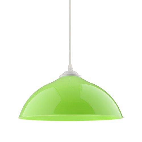 MagiDeal Sombra Semicircular Colgante de Lámpara de Techo Cubierta de Lámpara Colgante Decoración de Bombillas de Comedor de Hogar - Verde