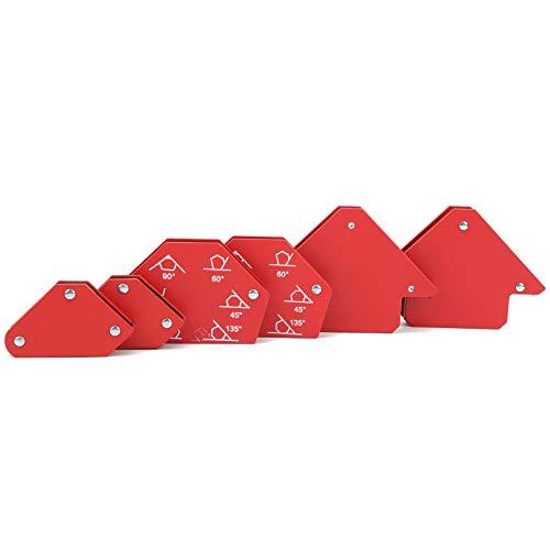 Fafeicy 6 piezas Juego de posicionador de soldadura, imán fuerte de 25 libras, herramientas de soldadura de múltiples ángulos, para soldador