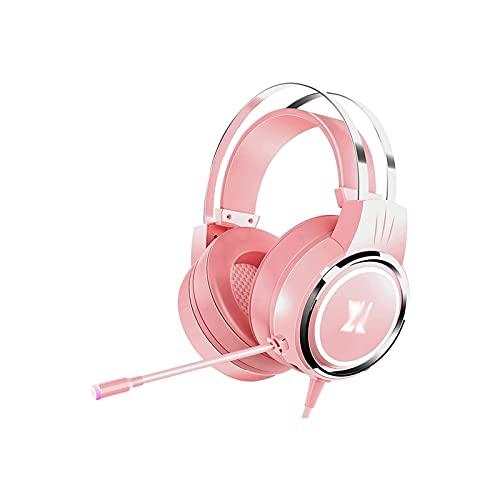 WGLL PS4 Auriculares de Juego con micrófono para Xbox One, PS5, PC, y Cuaderno, Volumen controlable Auriculares de Juego con Orejeras Suaves, Auriculares...