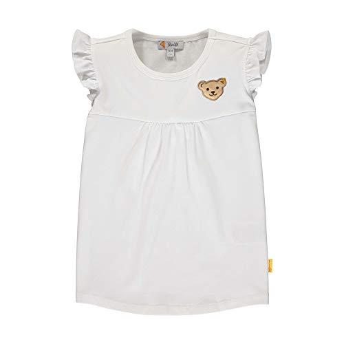 Steiff Mädchen T-Shirt, Weiß (Bright White 1000), (Herstellergröße: 104)