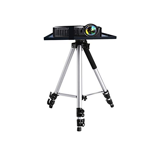 Qucking Light Mini-Stativ, Projektor-Stativfuß und Metallregal / -ablage, tragbar,...