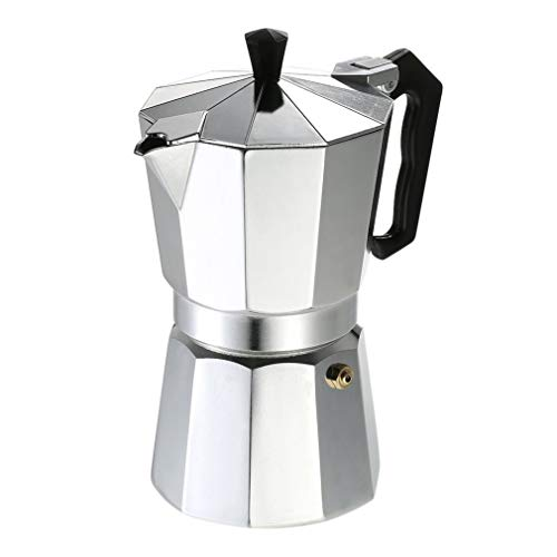 Aluminium Kaffeekanne 50Ml 1 Tasse Kaffeemaschine Espresso Espressokocher Stovetop Mokka Topf Elektro Mode Herd