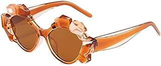 DEYONGDPTYJ Goodr Sunglasses, Fashion Cat Eye Sunglasses Ladies Lens Frame Imitation Crystal Ladies Style Sunglasses (Colo...