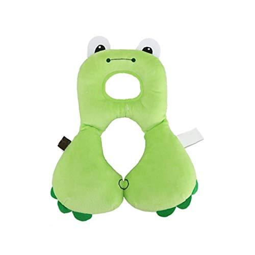 Bébé Oreiller Protection De La Tête D'Oreiller Cartoon Frog Design U En Forme D'Oreiller Bébé Oreiller Pour Siège D'Auto Poussette