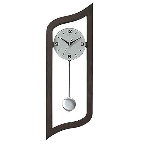 Horloge silencieuse Vintage Creative Horloge Salon Horloge Murale Design Sense Quand Le Pendule Horloge Murale Décoration Horloge Murale Simple (Couleur : A)