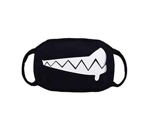 Caszel Mouth Mask Anime, Cute Fashion Mask Emoticon Mouth-Muffle Kaomoji Anti-Dust Cute Kawaii Face Mask Mouth Mask Black