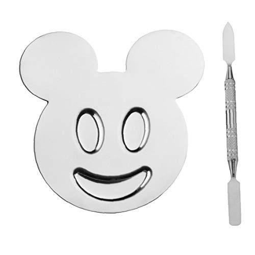 1pc maquillage en acier inoxydable de mélange Palette de maquillage en forme de Little Bear Palette Nail Art manucure Palette Palette avec l'artiste mélange outil Spatule