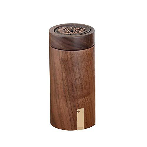 ZMYY Zahnstocherbox aus Massivholz, handgeschnitzt, Vintage-Design, dekorativer Zahnstocherspender mit Deckel (runde Form)