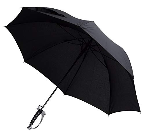 amzWOW Ombrello Grande da pioggia resistente - ombrello automatico -ombrello anti vento, Ombrello con manico a forma di sciabola - Lunghezza 88 cm, Diametro apertura 104 cm (Ombrello Sciabola)
