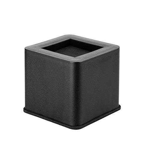 BTSD-home 3 Inch Bed Risers Black Square Heavy Duty Furniture Risers Great for Dorm Bed, Couch, Sofa, Desk and Armchair (4 Pack)