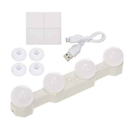 Sunydog 4 luci della Lampadina del LED Illumina Le luci di Trucco Senza Fili Ricaricabili di vanità Ricaricabili USB Temperatura di Regolabile