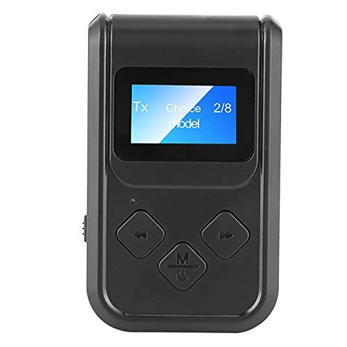 WAQU Adaptador de Audio Bluetooth-Adaptador de Audio Bluetooth 5.0 Receptor transmisor inalámbrico estéreo para Altavoz de PC de Coche de 3,5 mm