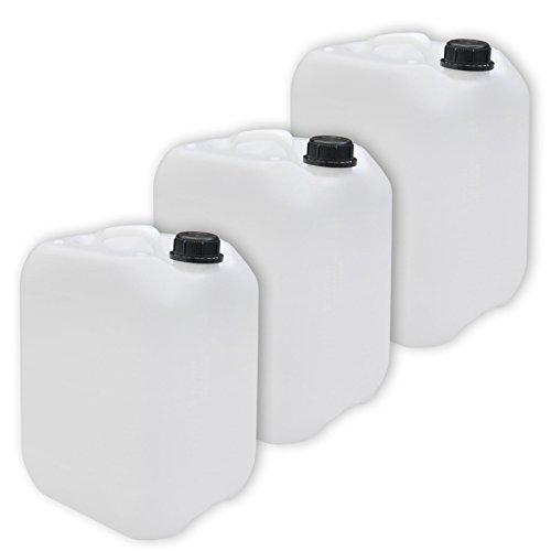 3 x 10l Leerkanister, Camping, Behälter Neu mit Sicherheitsverschluss - Lebensmittelecht