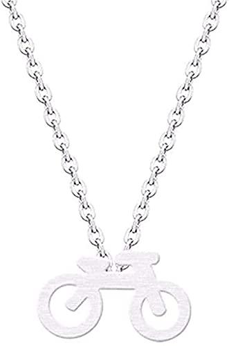 BEISUOSIBYW Co.,Ltd Halskette Mountainbike Charm Anhänger Halskette Kragen Edelstahl Minimalist Schmuck Halskette Für Frauen Männer Geschenke