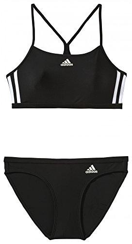 adidas Damen Bikini Infinitex 3-Streifen 2 Piece Sporty, Black/White, 40