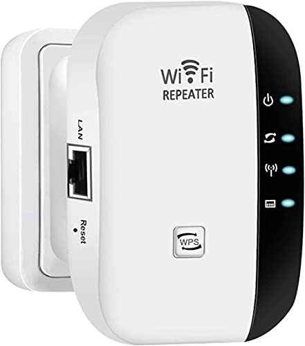 WiFi Range Extender, WiFi Signal Booster up to 300Mbps with Integrated...