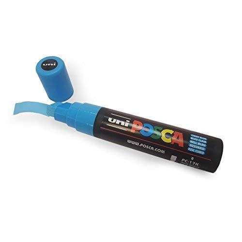 Marcador rotulador Uni-Ball PoscaPC-17K - XXL con punta biselada, para superficies grandes, disponible en 10colores