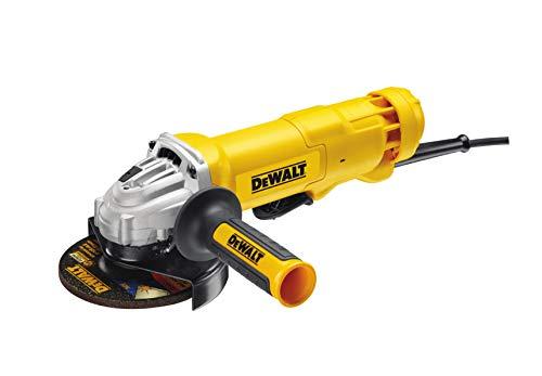 Dewalt DWE4233-QS Mini-Amoladora 125 mm 1.400W 11.500 RPM con Interruptor Hombre-Muerto, Amarillo/Negro, 1.400 W