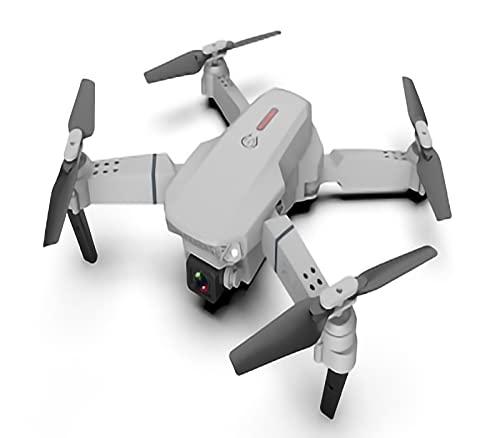 FDSGEWW Fotografia Aerea Pieghevole Ad Alta Definizione Doppia Fotocamera 2 Milioni di Pixel Drone a Lunga Durata Pressione dell'Aria Ad Altezza Fissa Quadcopter 3.7v 1800mAH Grigio Nero
