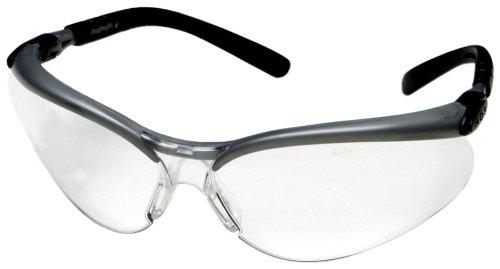 3M Anti-Fog Safety Glasses, Silver/Black Frame, Clear Lens