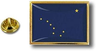 Akacha Spilla Pin pin's Spille spilletta Bandiera Badge USA Americana Alaska