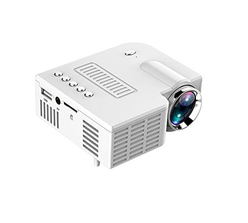 Huis projector, draagbare led mini video-projector voor home theater 500 lumen te ondersteunen HD 4K LED-projector 1920X1080,White