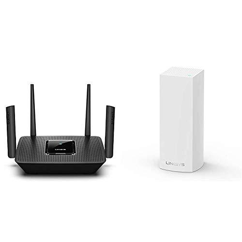 Linksys MR9000 Tribanda Mesh Router Wi-Fi +WHW0301 Sistema Velop WiFi Mesh tribanda para Todo el hogar