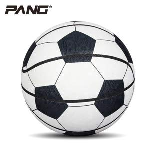 Read About Soft Pu Leather Basketball for Youth Street NO.7 Fake Football Pattern Design (7, White)
