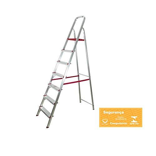 Escada Doméstica de Alumínio com 07 Degraus-BOTAFOGO-ESC066