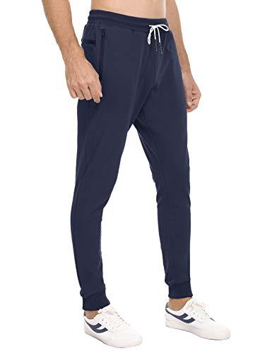 Sykooria Pantalon de Jogging Homme Coton Sport Fitness Casual Pants