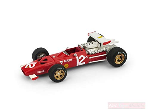 Brumm Modelo A Escala Compatible con Ferrari 312 F1 P.Rodriguez 1969 N.12 7th Mexico GP 1:43 BM0256B