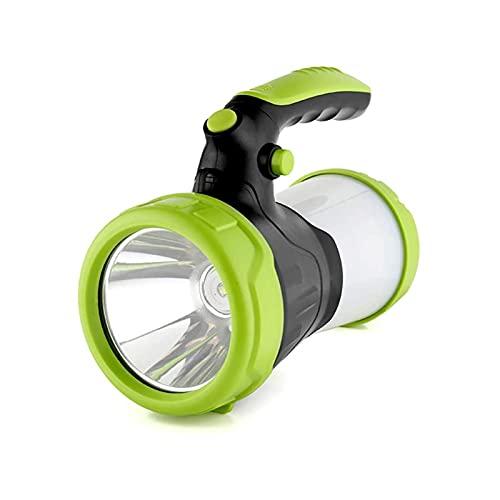 WGHH Spotlight Recargable Brillante, Mano de Mano LED Frente de búsqueda 500 lúmenes antorcha eléctrica en Espera Ultra Larga con Salida USB como Banco de energía