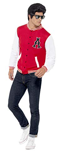 Smiffy's 43705 - 50 College Jock Letterman Jacket, Rot (Red), Gr. L