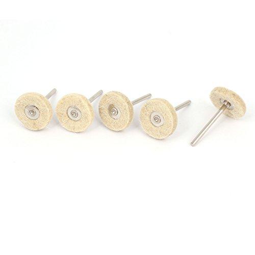 Aexit 25 Grob- & Feinpoliturzubehör mm x 3 mm Schleifen elektrische Bohrmaschine Polierscheibe Filz Polish-Beige, Polierscheiben 5 Stück