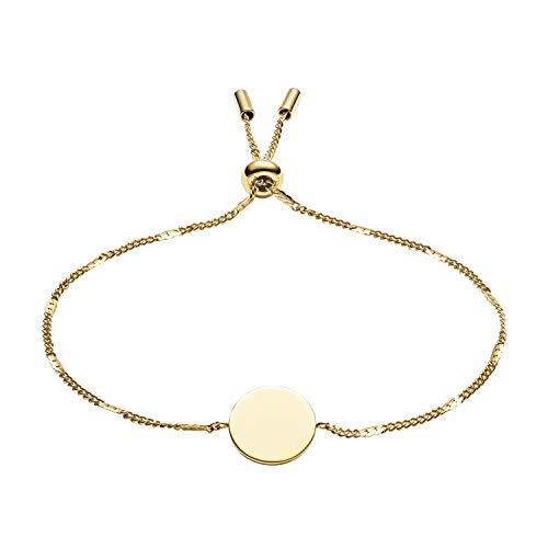 Fossil Damen Armband Disc Gold-Tone Stainless Steel Bracelet, JF03020710